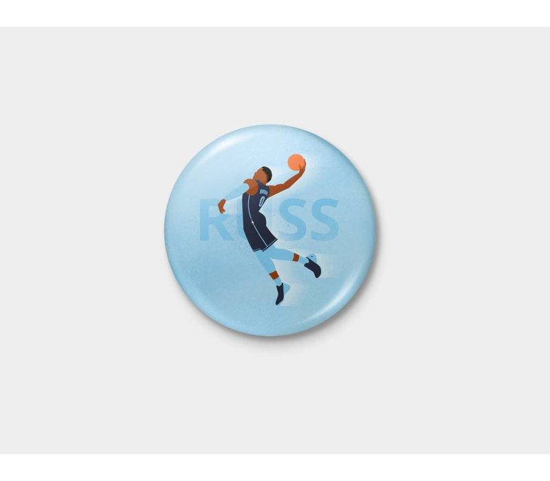 Thunder Icon Russ Pinback Button