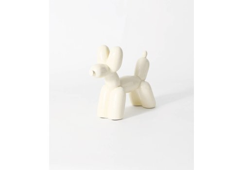 Imm Living Ceramic Balloon Dog Bookend Cream