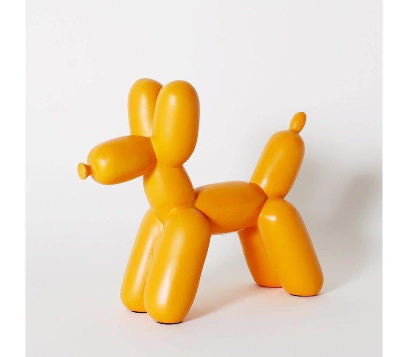 Ceramic Balloon Dog Bookend Orange