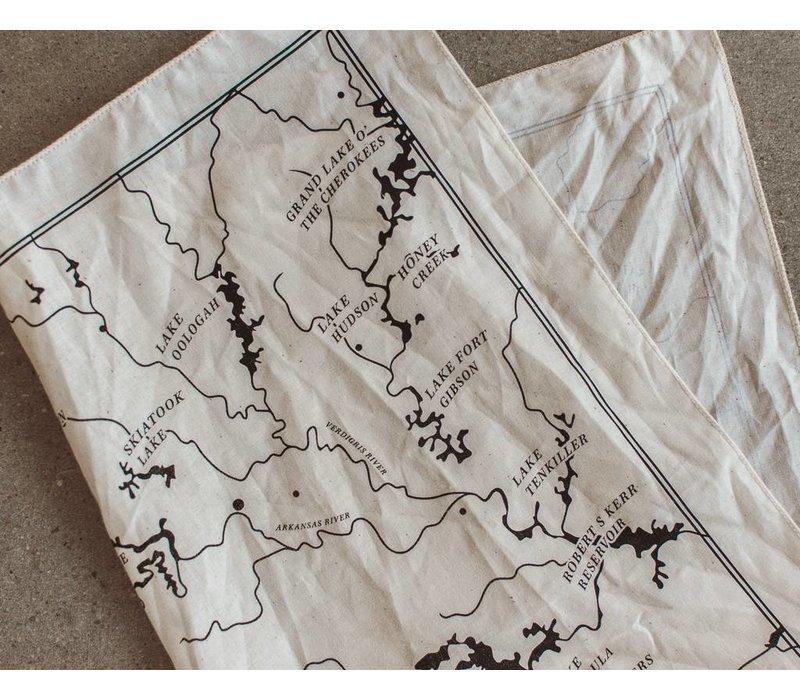 OK Rivers Map Bandana Natural