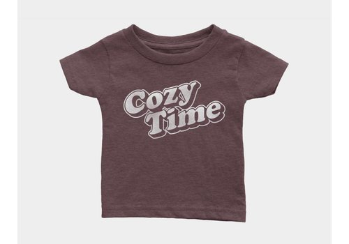 Shop Good Cozy Time Kids Tee Heather Maroon
