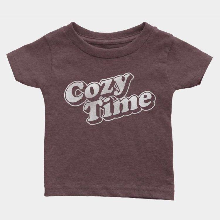 Shop Good Cozy Time Kids Tee Heather Maroon