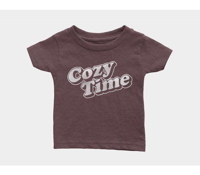 Cozy Time Kids Tee Heather Maroon