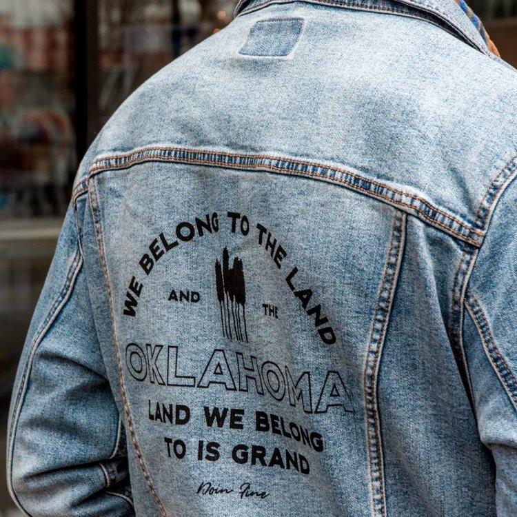 Shop Good We Belong To Oklahoma Unisex Denim Jacket