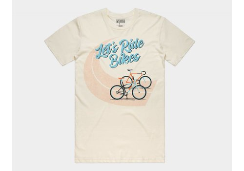 Shop Good Let's Ride Bikes Tee Natural