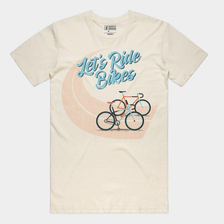 Shop Good Let's Ride Bikes Tee Natural