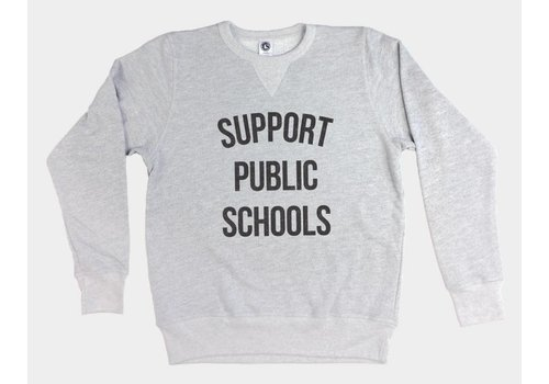 Shop Good Support Public Schools Pullover Sweatshirt Heather Grey