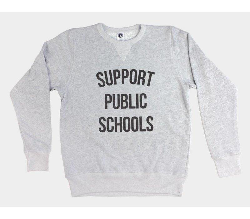 Support Public Schools Pullover Sweatshirt Heather Grey