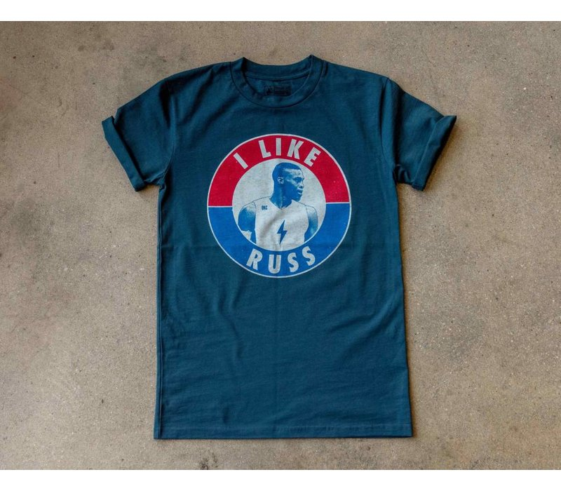 I Like Russ Tee Petrol Blue
