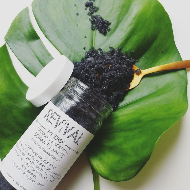 Revival Body Care Hawaiian Black Lava Soaking Salts