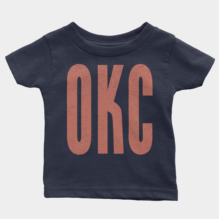 Shop Good OKC Kids Onesie Navy