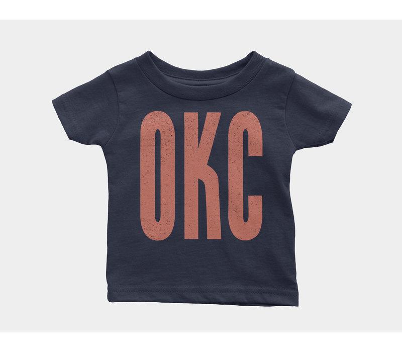 OKC Kids Onesie Navy