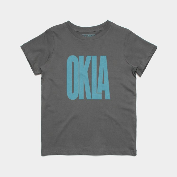 Shop Good Sunny Oklahoma Kids Tee Blue Skies