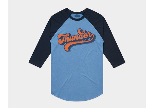 Shop Good Thunder Vibes Baseball Tee Heather Blue