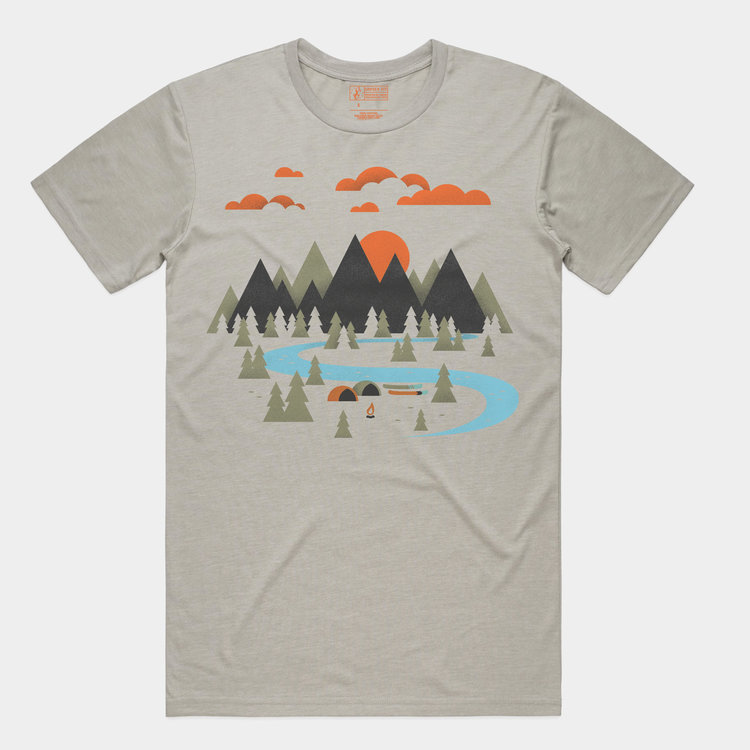 Shop Good Valley Camp Tee Light Grey