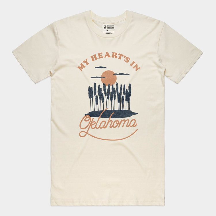 Shop Good My Heart's In Oklahoma Tee Natural