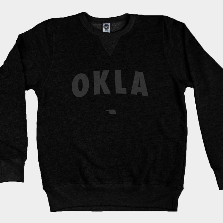 Shop Good Vintage Black OKLA Pullover Sweatshirt Black