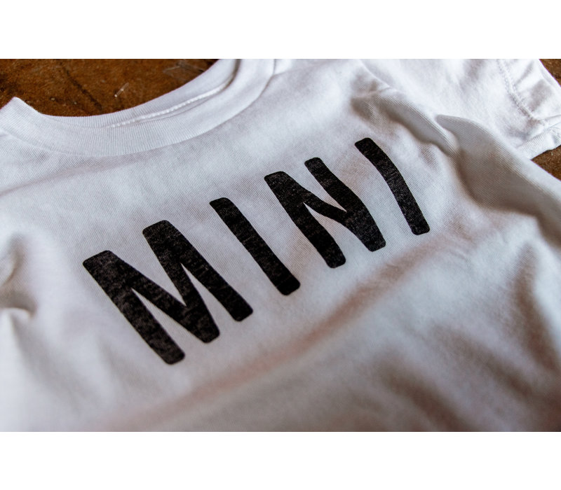 Mini Kids Tee White