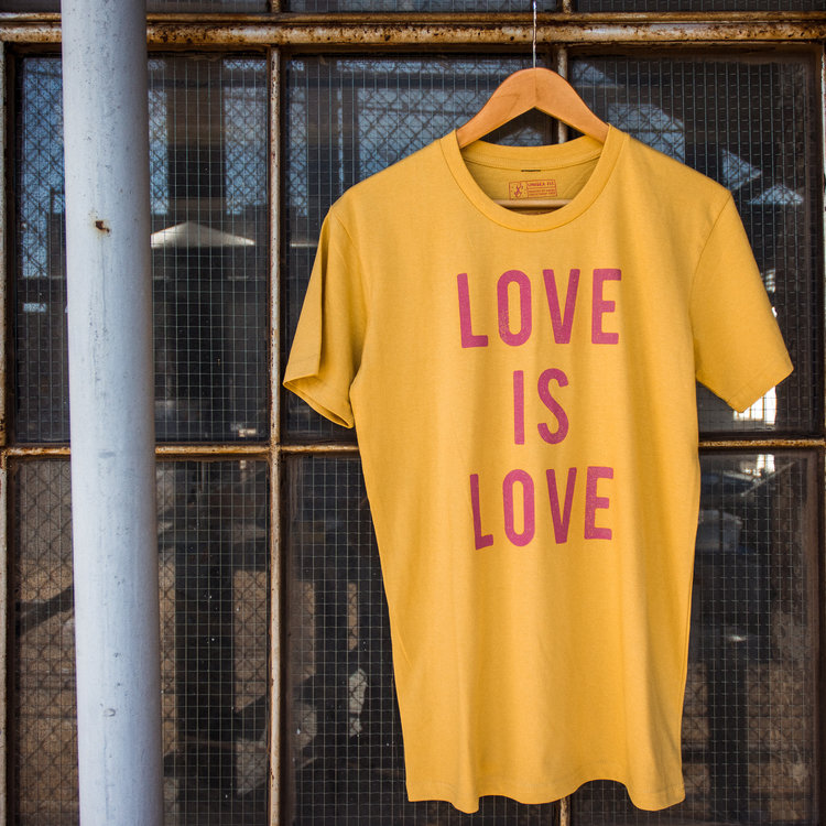 Shop Good Love is Love Tee Mustard