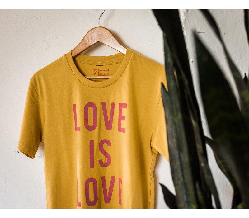 Love is Love Tee Mustard