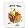 Slightly Pie Chart Everyday Greeting Card