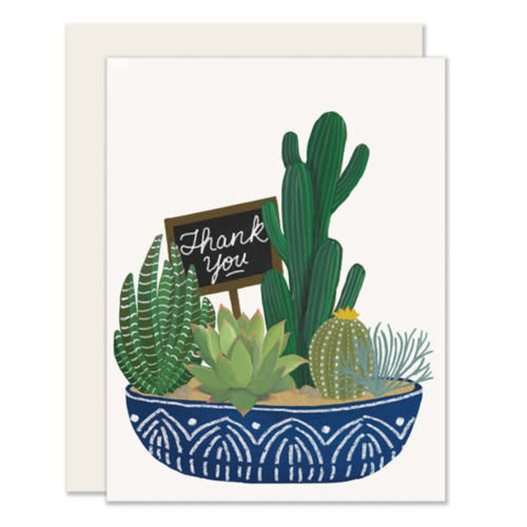 Slightly Succulent Thank You Greeting Card