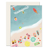Slightly Beach Scene Greeting Card