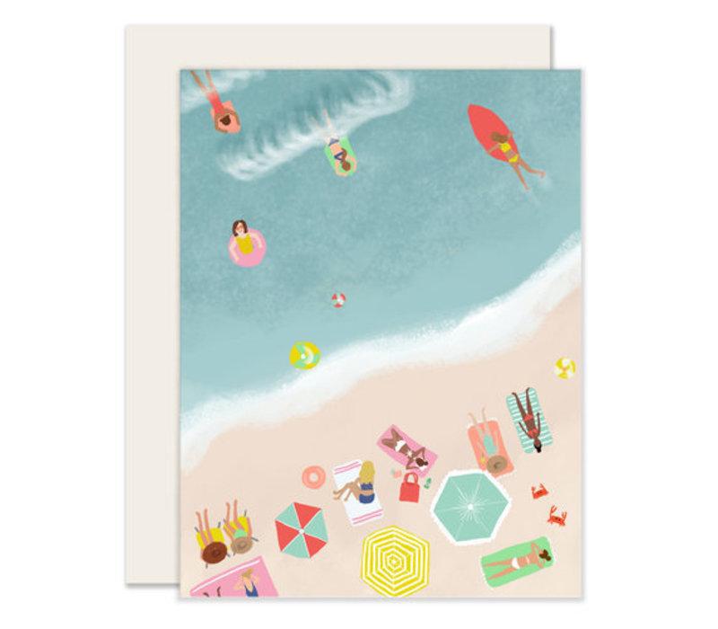 Beach Scene Greeting Card