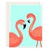 Slightly Flamingos Everyday Greeting Card