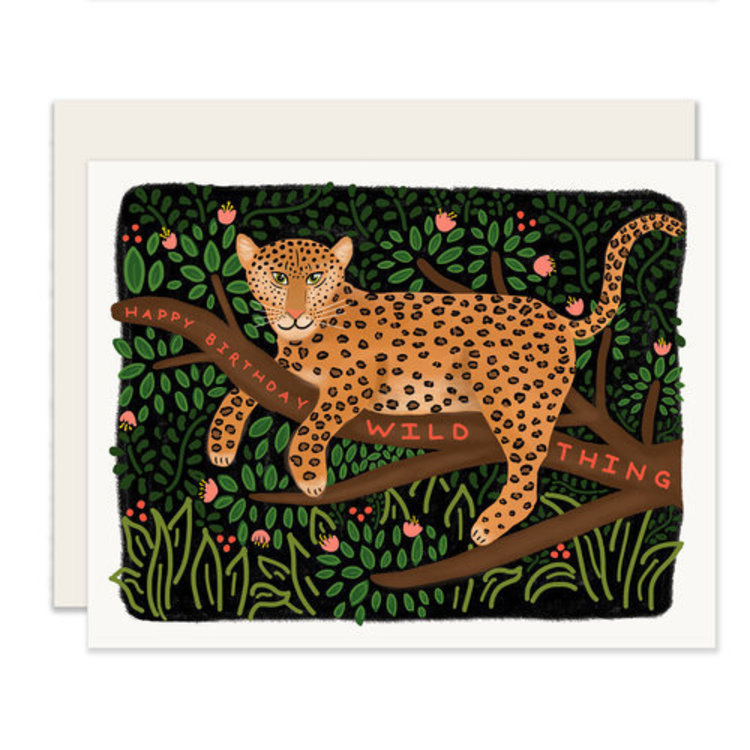 Slightly Wild Thing Birthday Greeting Card