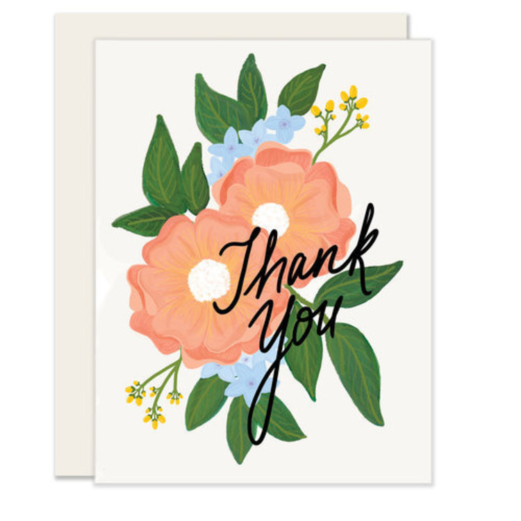 Slightly Floral Thank You Greeting Card