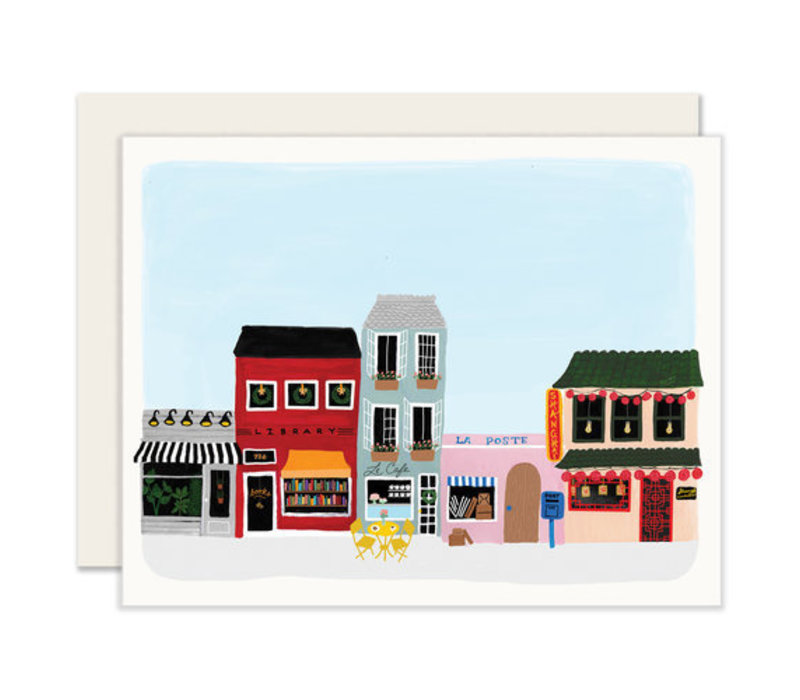 Town Scene Everyday Greeting Card