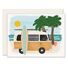 Slightly Surfboard Van Everyday Greeting Card