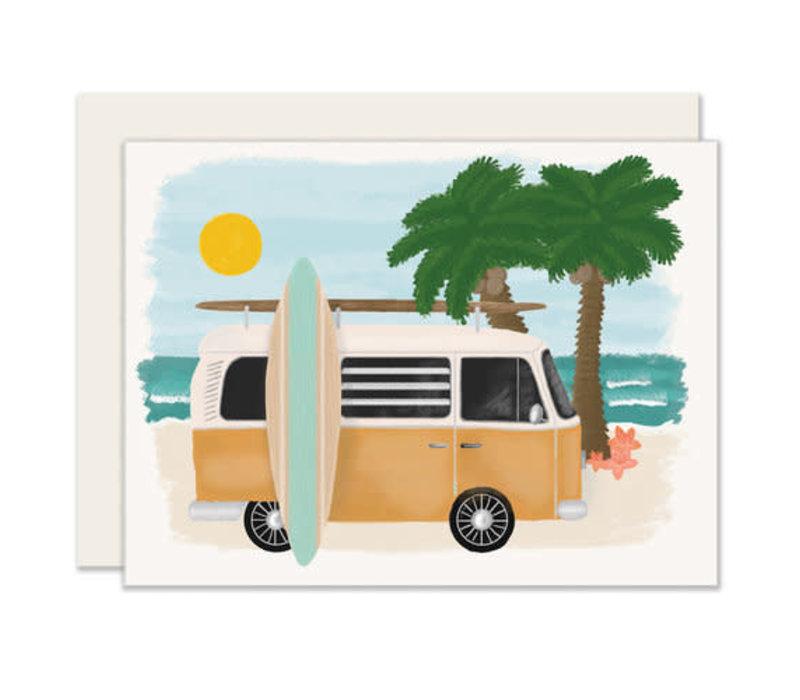 Surfboard Van Everyday Greeting Card