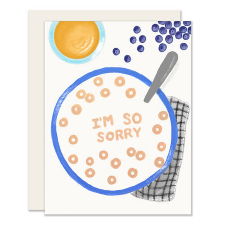 Slightly Sorry Cereal Greeting Card