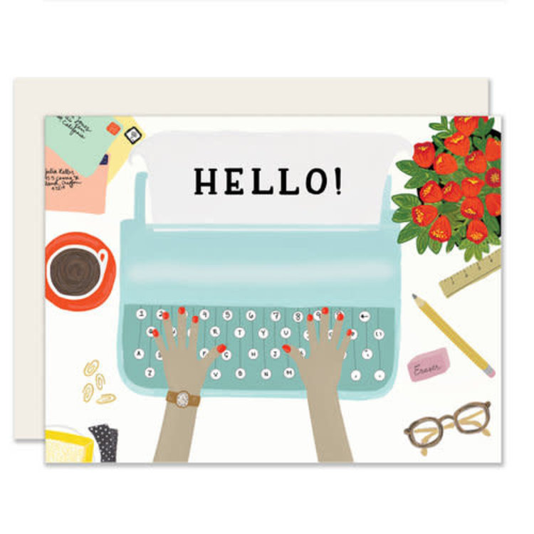 Slightly Typewriter Everyday Greeting Card
