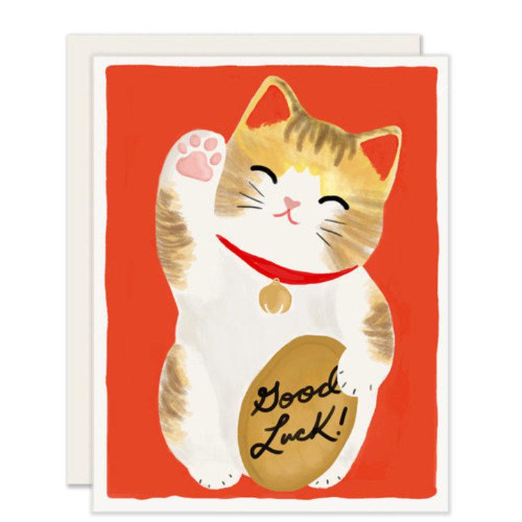 Slightly Maneki Neko Greeting Card
