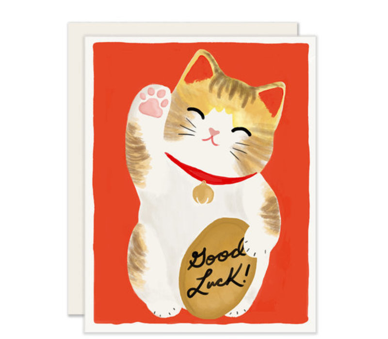 Maneki Neko Greeting Card