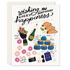 Slightly Every Happiness Birthday Greeting Card