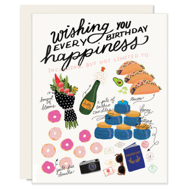 Slightly Every Happiness Greeting Card