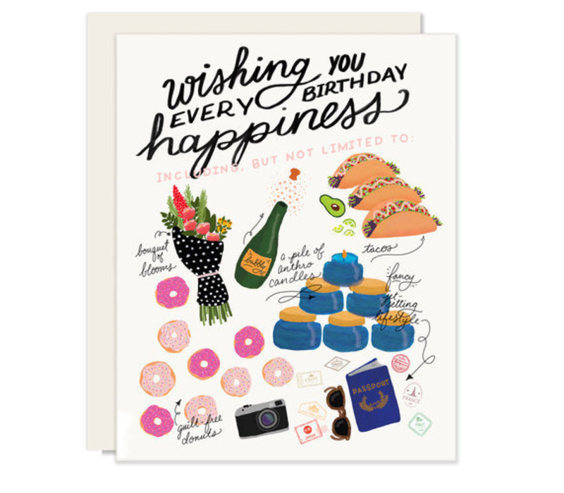 Every Happiness Birthday Greeting Card