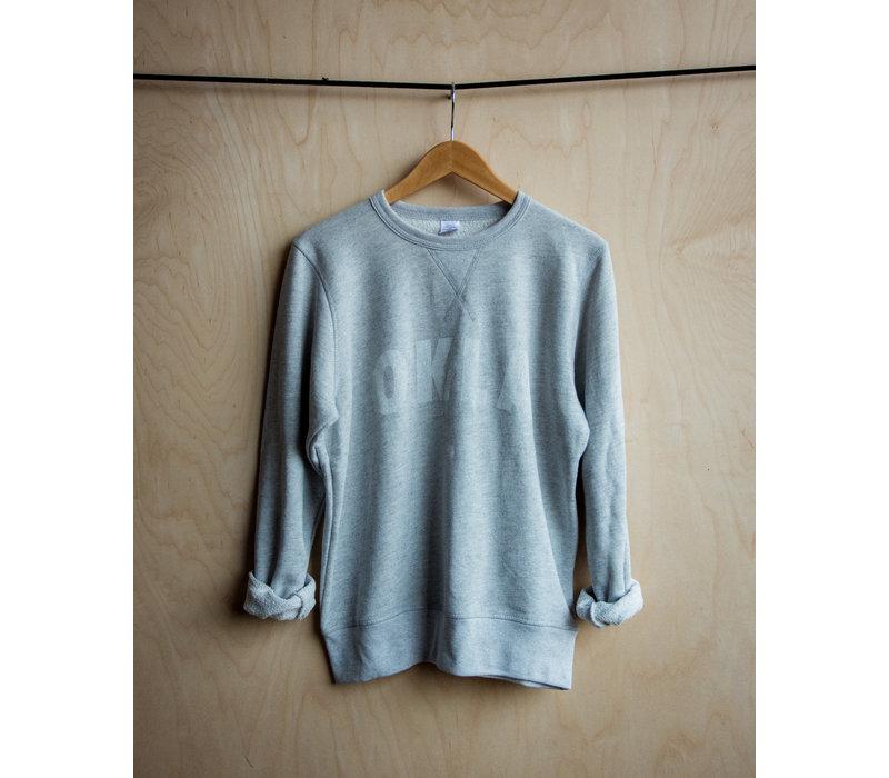 Vintage White OKLA Pullover Sweatshirt
