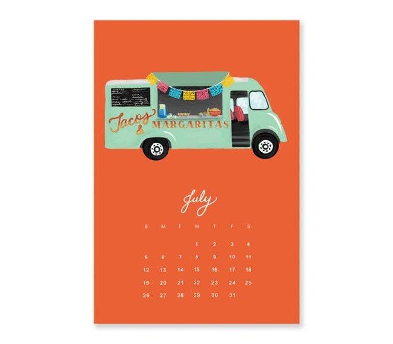 2020 Food Truck Calendar