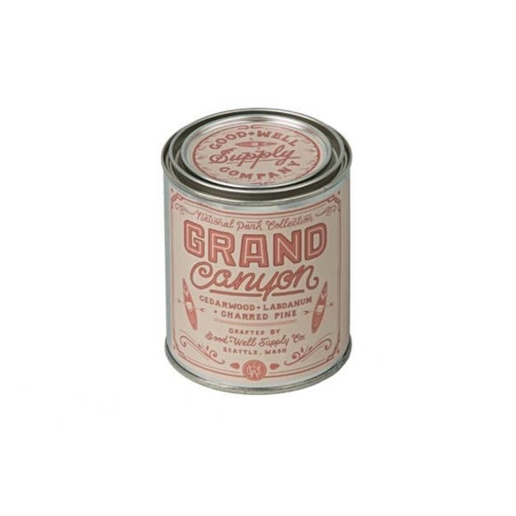 Good & Well Supply Co. Grand Canyon 1/2 Pint Soy Candle - Charred Pine Cedar + Labdanum