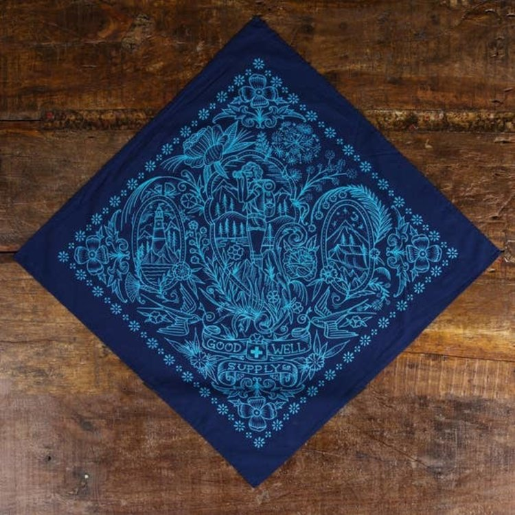 Good & Well Supply Co. Take a Hike Bandana - Navy