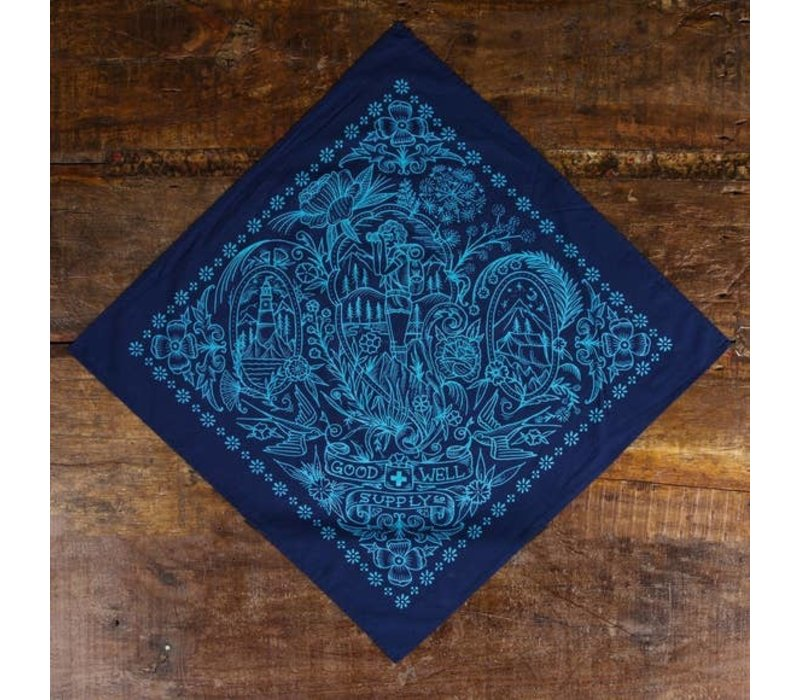 Take a Hike Bandana - Navy