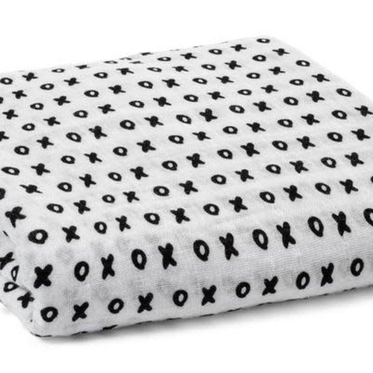 Modern Burlap Organic Cotton Muslin Swaddle Blanket - XO