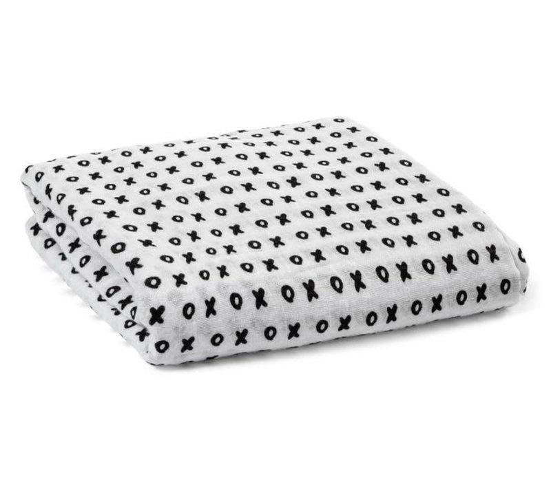 Organic Cotton Muslin Swaddle Blanket - XO