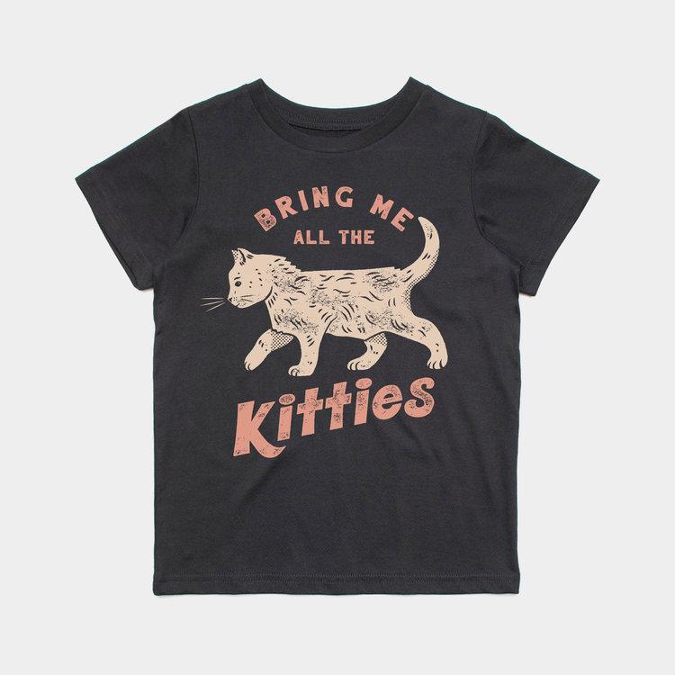 Shop Good Bring Me Kitties Kids Tee Black