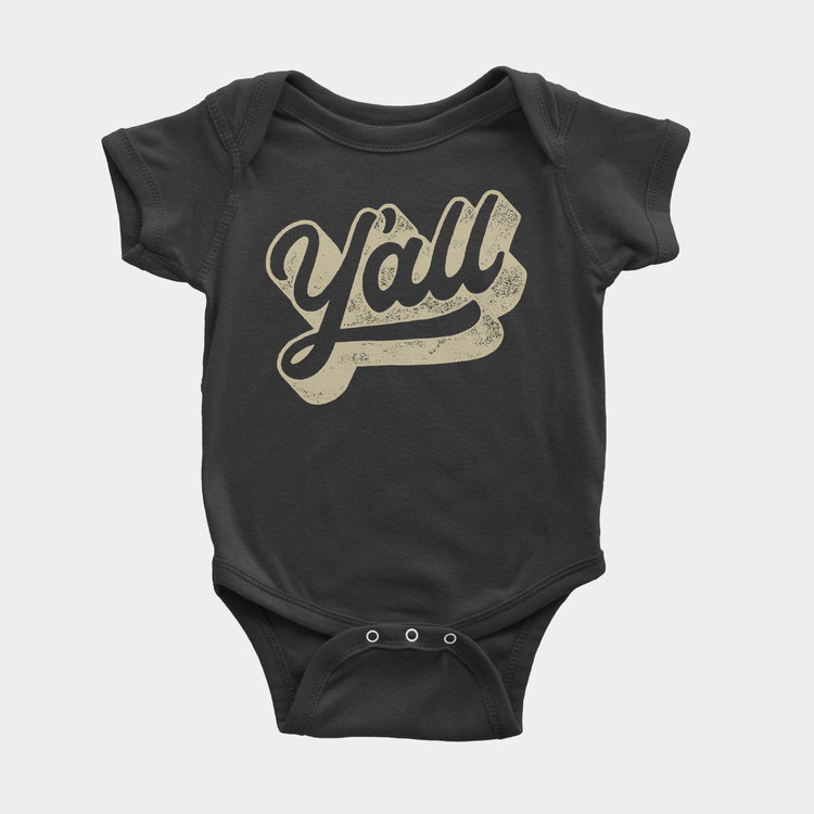 Shop Good Y'all Kids Onesie Black